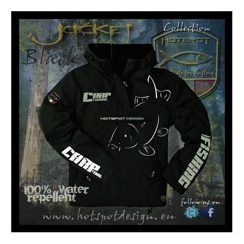 Vyriška striukė Carpfishing Eco Black Jacket Hotspot Design