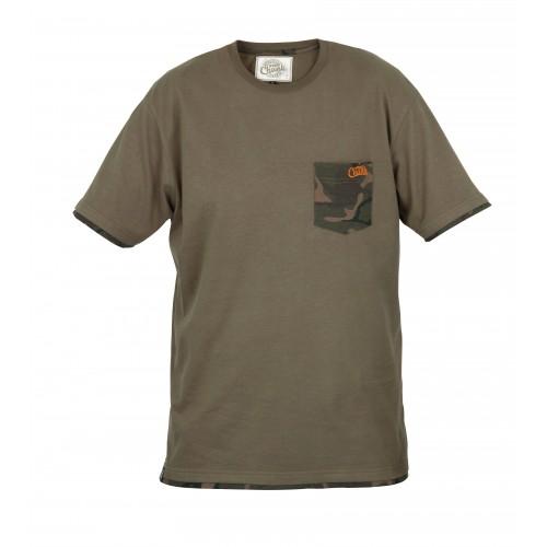 Marškinėliai Chunk Khaki Camo Pocket T Shirt XXL FOX