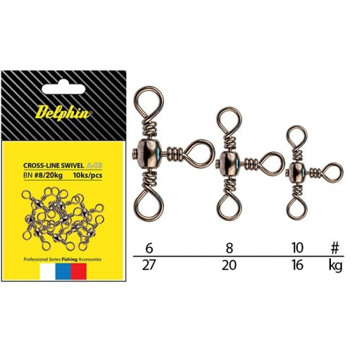 Suktukai Delphin Cross-Line Swivel A-03/10pcs