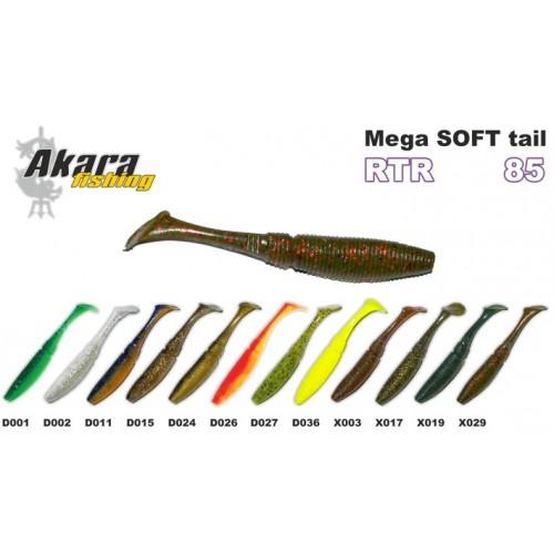 Guminukai Akara Mega SOFT TAIL RTR85 / 10vnt