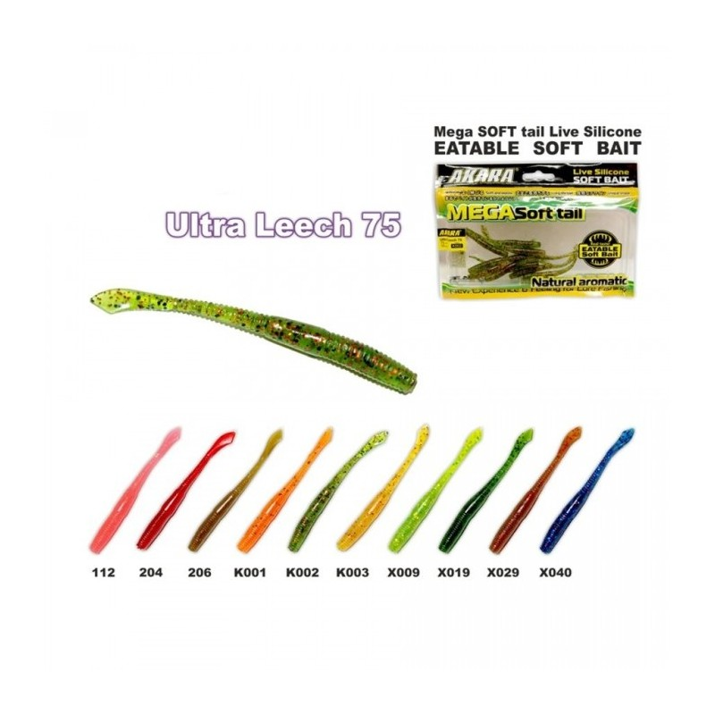 Guminukai Akara Eatable soft Bait Ultra Leech75 / 10vnt