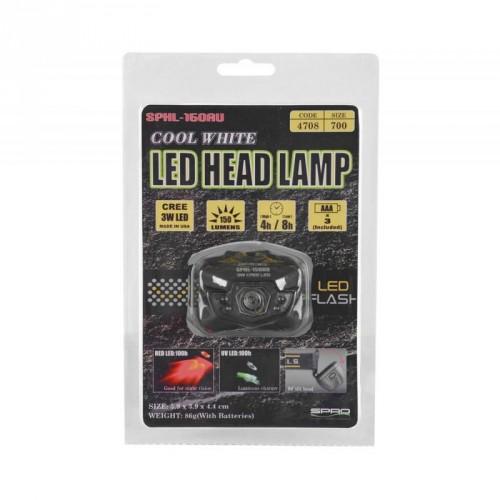 Prožektorius SPRO Cool White LED Head Lamp