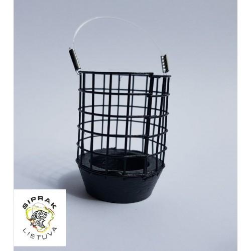 Šėryklėlė tolimo metimo (juoda, metalinė) XL