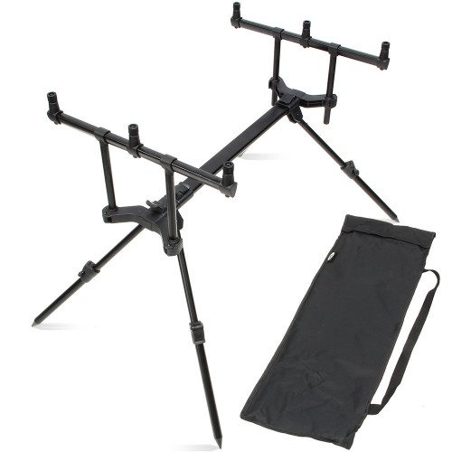 Meškerių stovas NGT NGT Slider Pod – 3 Rod 'High / Low' Pod with Case