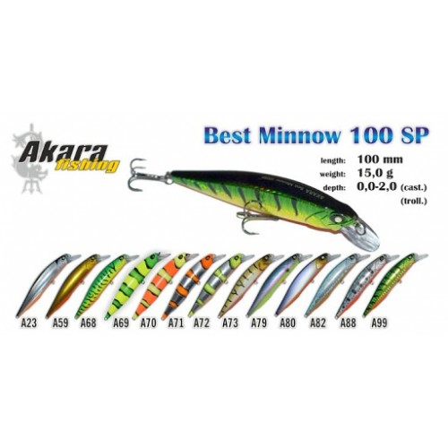 Vobleris Akara Best Minnow 100SP
